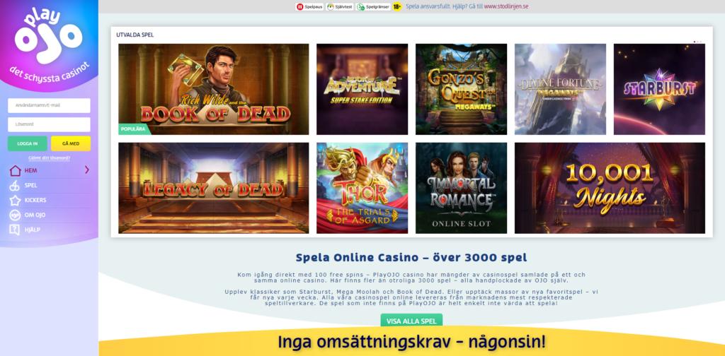Svensk kundtjänst PlayOJO casino 63499