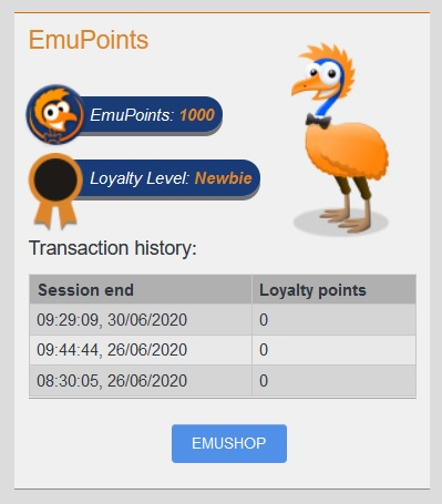 Extravinster cash Emu 36383