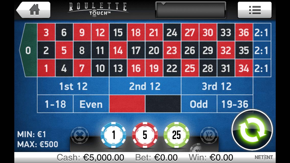 Spelsystemet roulette NetEntertainment casino 63633